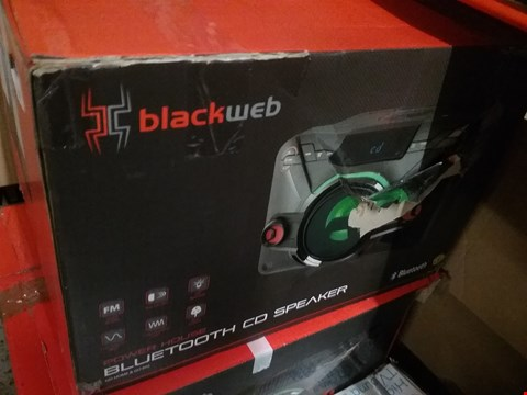 Lot 1303 BLACKWEB POWER HOUSE BLUETOOTH CD SPEAKER