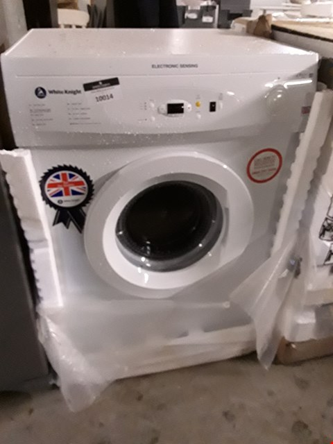 Lot 10014 WHITE KNIGHT WHITE 7KG ELECTRONIC SENSING FREESTANDING VENTED TUMBLE DRYER C86A7W RRP £190.00