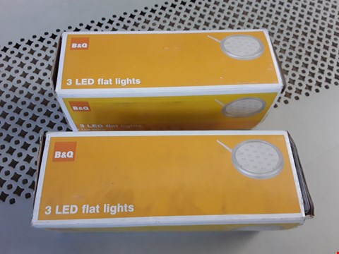 Lot 74 TWO BOXED SETS OF 3 LED LOW ENERGY KITCHEN CABINET FLAT LIGHTS RRP £96.00