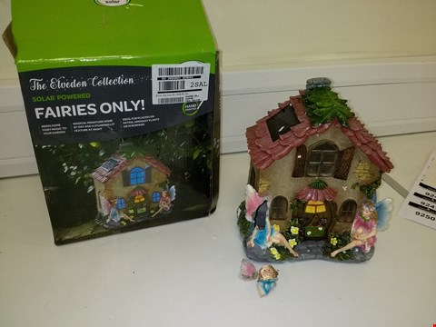 Lot 9243 SOLAR POWERED FAIRIES ONLY FAIRY HOUSE GARDEN ORNAMENT  RRP £40.00