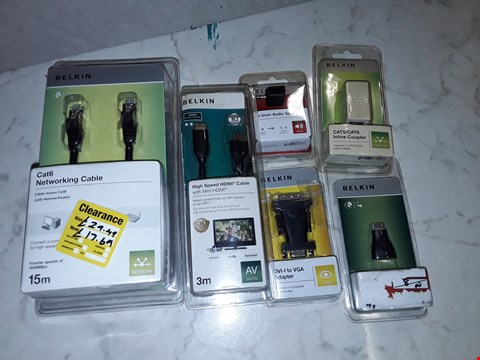 Lot 6208 LARGE QUANTITY OF ASSORTED BELKIN CONNECTIVITY ITEMS