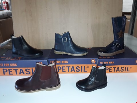 Lot 12801 LOT OF APPROXIMATELY 11 ASSORTED PAIRS OF PETASIL KIDS BOOTS