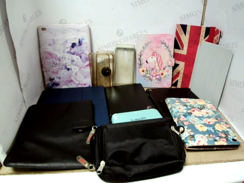 Lot 6199 BOX OF ASSORTED PHONE AND TABLET CASES ETC