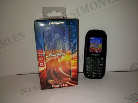 Lot 18372 ENERGIZER ENERGY E12 MOBILE PHONE IN BLACK