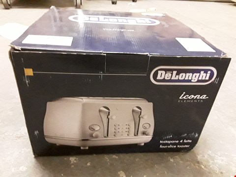 Lot 639 DELONGHI ICONA 4 SLICE TOASTER