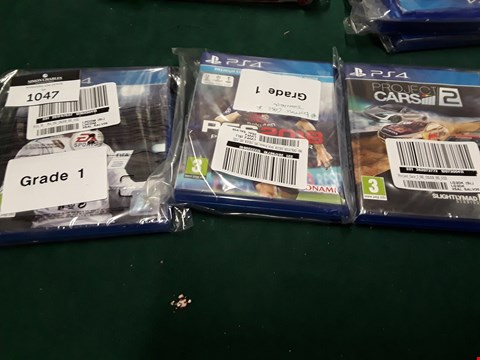 Lot 1047 LOT OF 3 PLAYSTATION 4  GAMES TO INCLUDE FIFA 18, PES 2018 AND PROJECT CARS 2