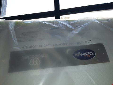 Lot 28 QUALITY BAGGED SILENTNIGHT MIRAPOCKET ECO COMFORT BREATHE 1400 PILLOWTOP 150CM KING SIZED MATTRESS