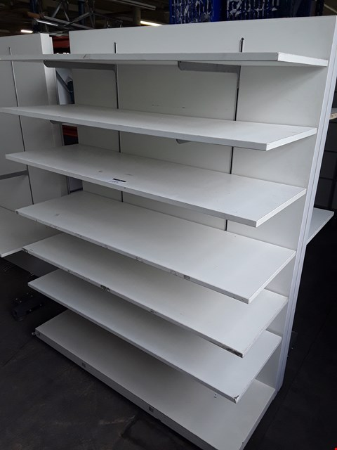 Lot 2079 WHITE ADJUSTABLE SHELF DISPLAY UNIT WITH 6 SHELVES