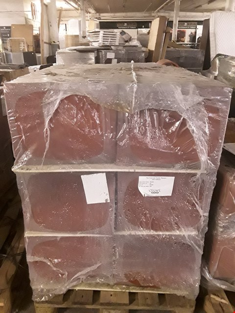 Lot 13021 PALLET OF APPROXIMATELY 180 FLAT PANTILE PLANUM TILES WITH NAIL HOLE