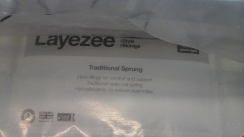 Lot 1270 QUALITY BAGGED LAYEZEE MADE BY SILENTNIGHT TRADITIONAL SPRUNG 5FT MATTRESS