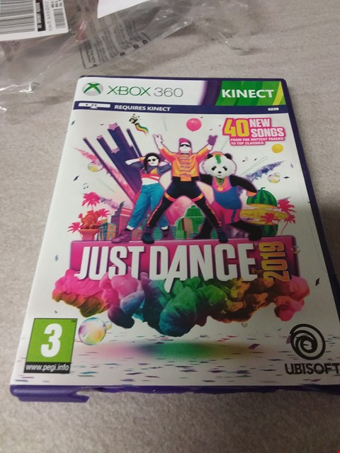 Lot 4166 JUST DANCE 2019 XBOX 360 GAME