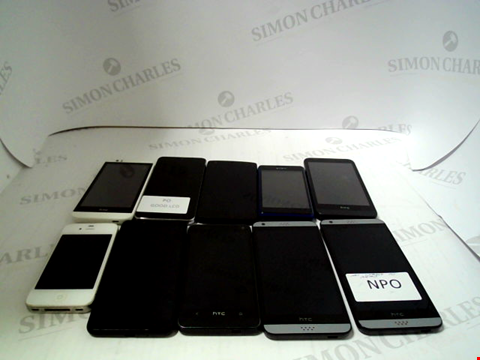Lot 674 LOT OF APPROXIMATLEY 10 ASSORTED MOBILE PHONES AND SMARTPHONES ETC