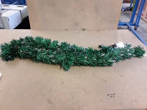 Lot 2177 6FT FIBRE OPTIC COLOURING CHANGING GARLAND TREE RRP £74.99