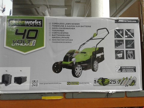 Lot 2653 BRAND NEW BOXED GREEN WORKS TOOLS 40 VOLT LITHIUM MAX