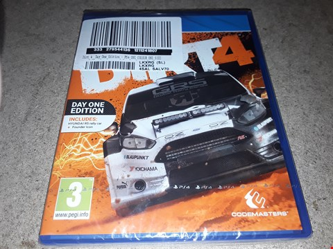 Lot 9190 DIRT 4 DAY ONE EDITION PS4