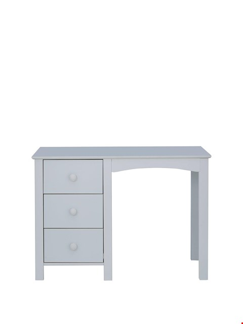 Lot 3266 BRAND NEW BOXED NOVARA GREY 3-DRAWER DESK (1 BOX) RRP £169
