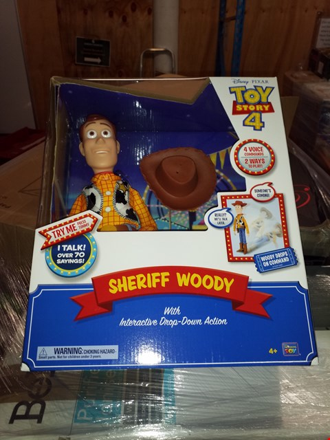 Lot 467 GRADE 1 SHERIFF WOODY WITH INTERACTIVE DROP-DOWN ACTION FIGURE RRP £100.00
