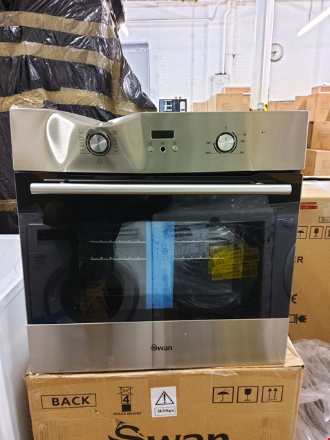 Lot 7023 BOXED SWAN SXB70110SS BUILT-IN SINGLE ELECTRIC OVEN  RRP £224.99
