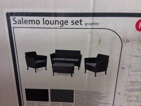 Lot 3634 BOXED KETER SALEMO LOUNGE SET - GRAPHITE RRP £325.00