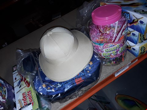 Lot 34 HUNTERS HAT , PAW PATROL CHILDS SEAT AND GIANT ART JAR