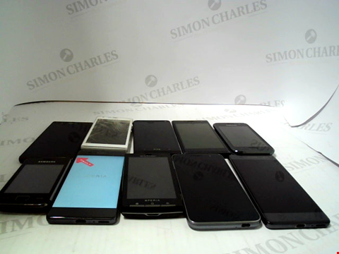Lot 664 LOT OF APPROXIMATLEY 10 ASSORTED MOBILE PHONES AND SMARTPHONES ETC