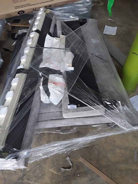 Lot 10055 PALLET OF GREY FABRIC BEDFRAME PARTS