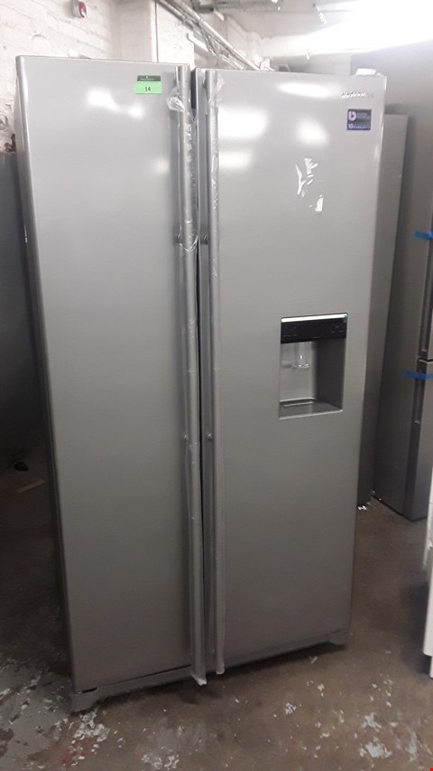 Lot 14 SAMSUNG RSA1RTMG SILVER AMERICAN-STYLE FRIDGE FREEZER WITH WATER DISPENSER  RRP £879