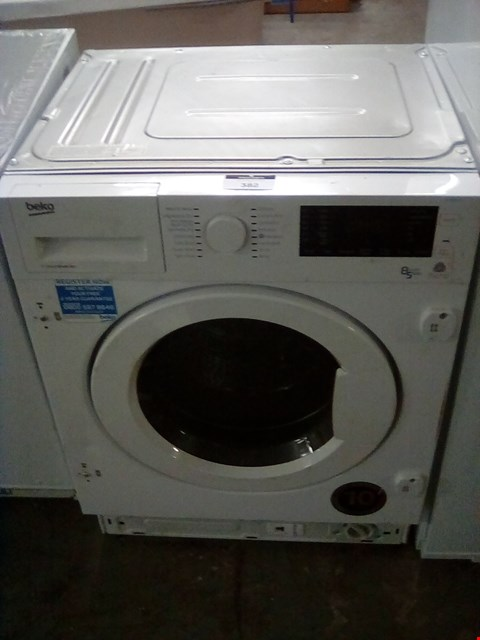 Lot 382 BEKO WDIY854310 WHITE BUILT IN WASHER DRYER RRP £425