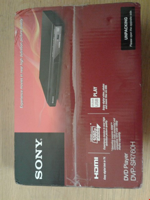 Lot 2013 SONY DVP-SR760 HDMI DVD PLAYER  RRP £67