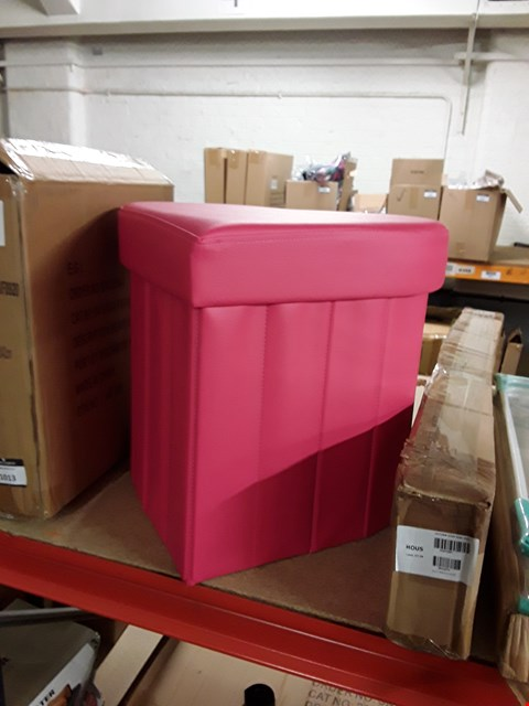 Lot 10082 APPROXIMATELY 5 ITEMS TO INCLUDE PINK HEART OTTOMAN STOOL, KITCHEN OVER SINK SHELF, 2 X 3 TIER AIRER AND WHITE TOILET SEAT