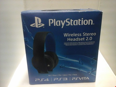 Lot 1002 BOXED PLAYSTATION WIRELESS STEREO HEADPHONES 2.0  RRP £115