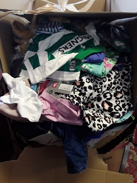 Lot 63 CAGE OF A SIGNIFICANT QUANTITY OF ASSORTED CHILDRENS CLOTHING ITEMS ETC