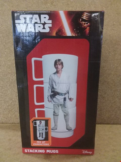 Lot 431 BRAND NEW BOXED STAR WARS MIX UP CHARACTERS STACKING MUGS