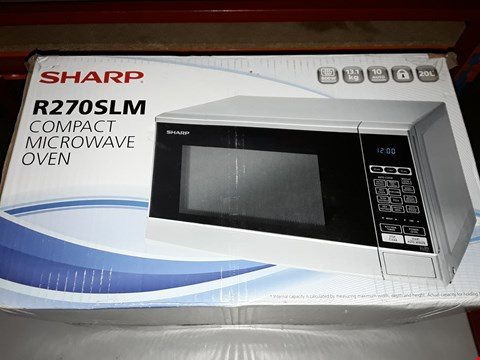 Lot 45 SHARP R270SLM 20L 800W SOLO MICROWAVE RRP £99.99