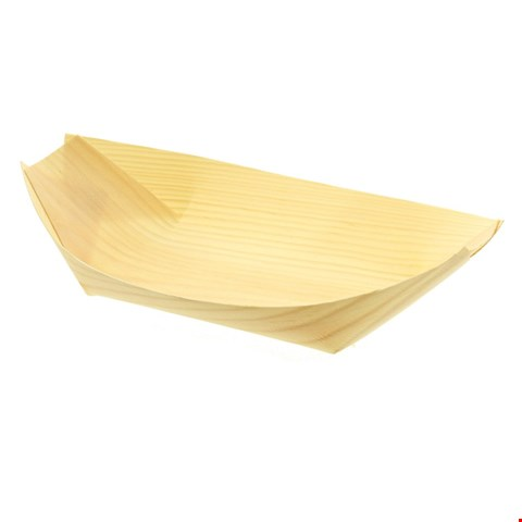 Lot 28 50 X BRAND NEW PREMIUM BAMBOO SERVING BOATS