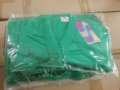 Lot 1351 BOX OF APPROXIMATELY 50 GIRLS CARDIGAN - GREEN, SIZE - 24, 26, 28, 30, 32