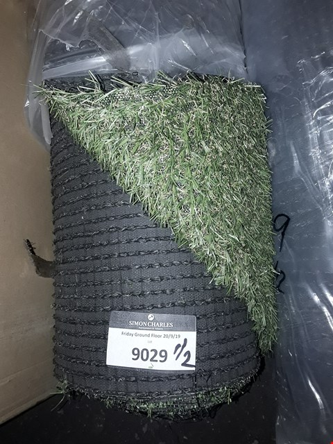 Lot 9029 LOT OF 2 ROLLS OF ARTIFICIAL GRASS SIZES 3.5M X 2M AND SIZE UNSPECIFIED