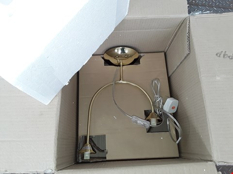 Lot 149 BOXED GOLD LOOK 2-LAMP TABLE LAMP