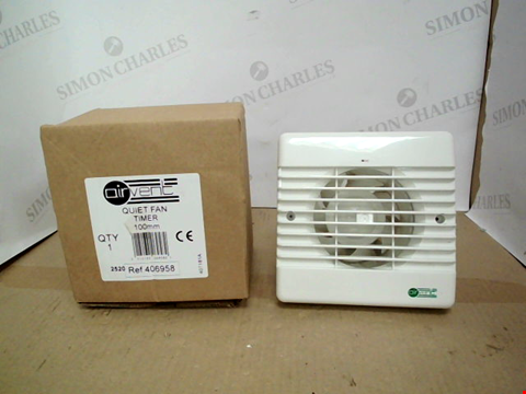 Lot 13448 BOXED AIRVENT QUIET FAN TIMER