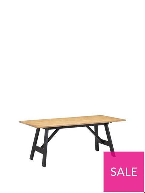 Lot 3601 BOXED HOCKLEY BLACK AND OAK DINING TABLE (1 BOX) RRP £299.99