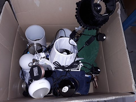 Lot 255 LOT OF ASSORTED UNBOXED LIGHTING ITEMS