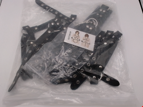 Lot 1137 BAGGED BLACK FAUX LEATHER HARNESS SET