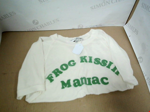 Lot 7156 WILDFOX FROG NANAIC WHITE T-SHIRT - SIZE XS