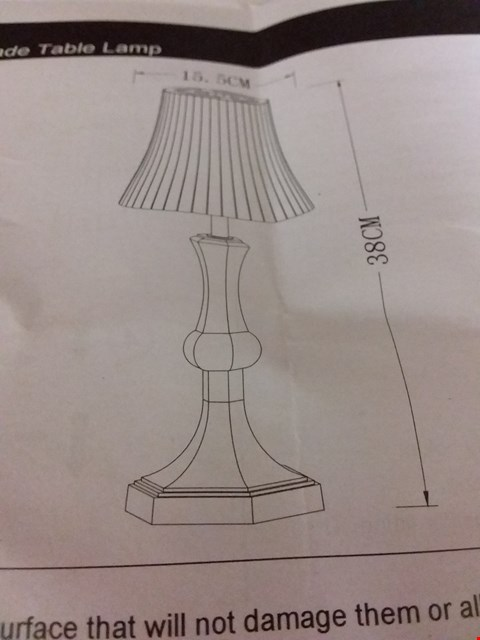 Lot 10609 LOT OF 2 ITEMS TO INCLUDE ACRYLIC SHADE TABLE LAMP, NAME A STAR GIFT SET RRP £50.00