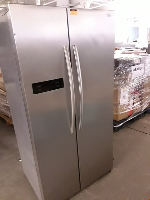 Lot 42 RUSSELL HOBBS SILVER AMERICAN STYLE FRIDGE FREEZER