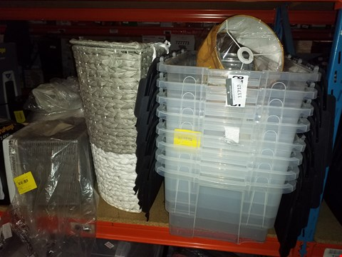 Lot 11718 A LOT OF ASSORTED ITEMS TO INCLUDE 8 ASSORTED STORAGE BOXES AND 2 LAMP SHADES