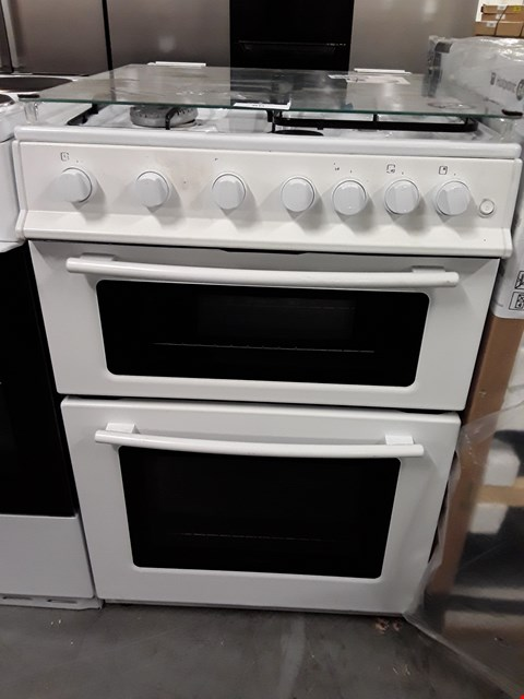 Lot 60 SWAN SX2061W WHITE 60CM FREESTANDING GAS DOUBLE OVEN COOKER  RRP £389