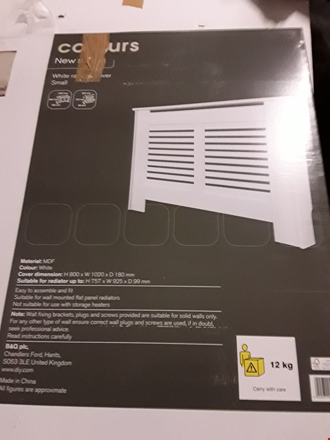 Lot 3171 COLOURS NEW SUFFOLK SMALL WHITE RADIATOR COVER H800 X W1020 X D180MM