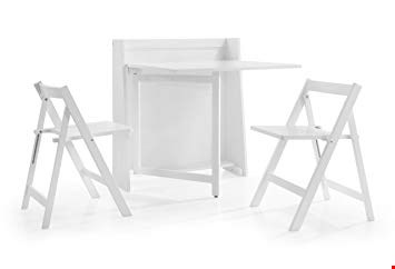 Lot 2043 BOXED GRADE 1 HELSINKI COMPACT FOLDING DINING SET WHITE ( 1 BOX )