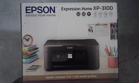 Lot 764 BOXED EXPRESSION HOME XP-3100 HOME PRINTER